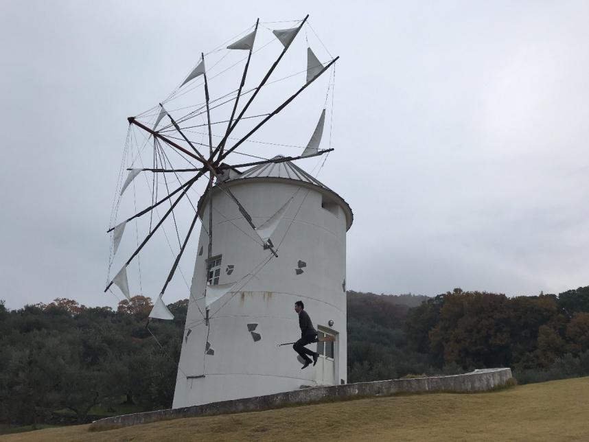 小豆島 kadapam(カダパン)オリーブ公園撮影 魔女の宅急便 風車前