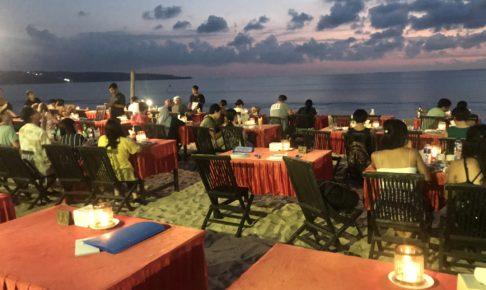 バリ島 ジンバランの海鮮とサンセット