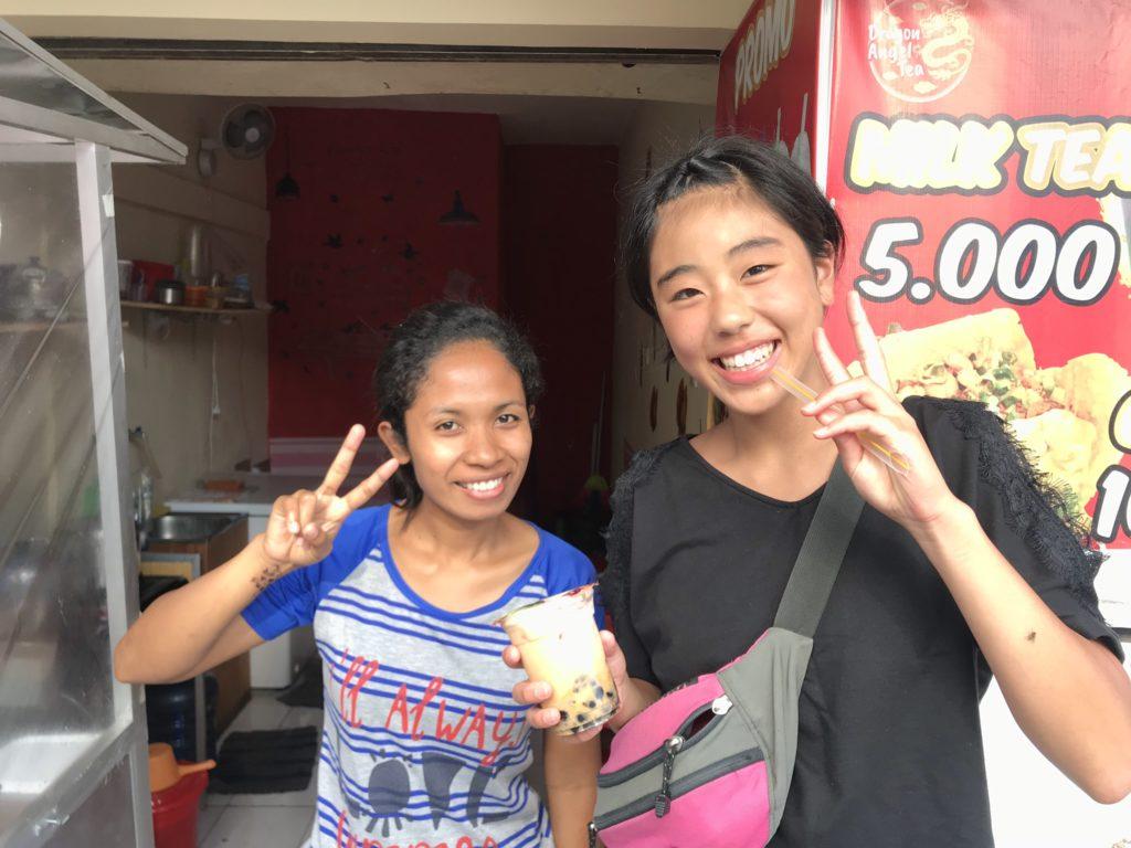 バリ島 クタの街を散策 タピオカ店