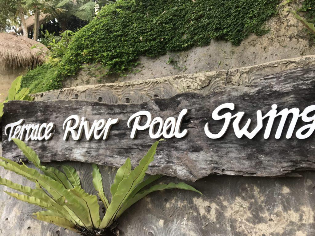 ウブドの絶景巨大ブランコ「Terrace River Pool Swing」